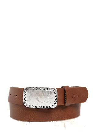Ledergürtel mit dekorativer Schließe