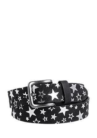 Ledergürtel mit glänzenden Sternen