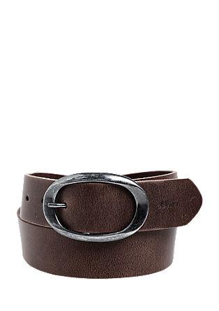 Ledergürtel mit ovaler Schließe