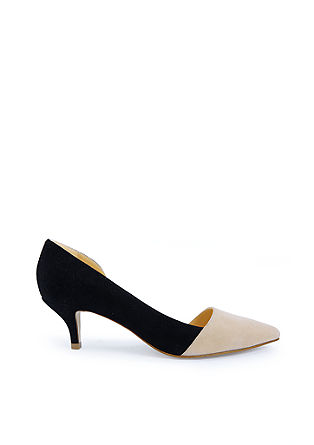 Lederpumps im Two-Tone-Look
