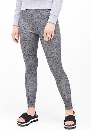 Legging met geometrische print