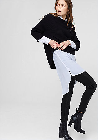 Leggings with a leather texture from s.Oliver