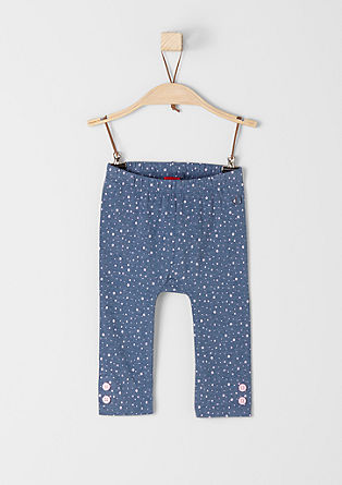 Leggings with a polka dot pattern from s.Oliver