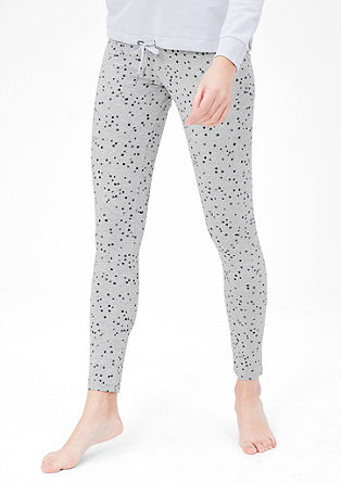 Leggings with a star print from s.Oliver