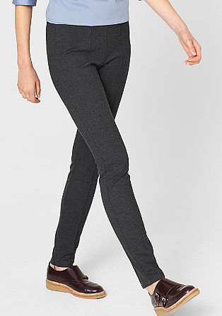 Leggings with pressed pleats from s.Oliver