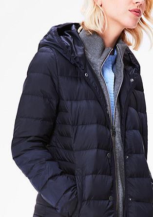 Lehká péřová bunda s teplákovou vložkou