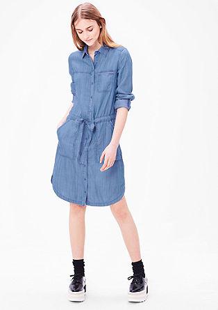 lehké džínové košilové šaty