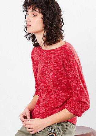 Lehký melírovaný pletený pulovr