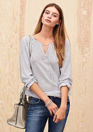 Leichte Shirtbluse aus Viskose