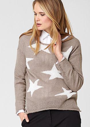 Leichter Alpaka-Pullover