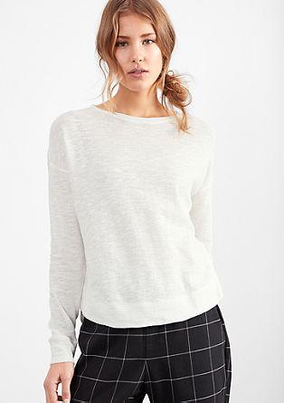 Leichter Flammgarn-Pullover