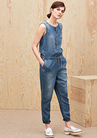 Leichter Jumpsuit in Jeans-Optik