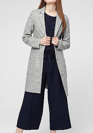 Leichter Mantel aus Woll-Mix