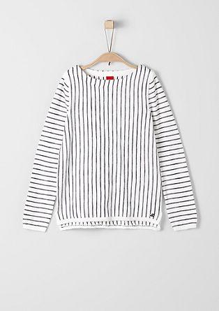 Leichter Streifen-Pullover