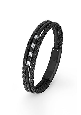 Leren armband met beads