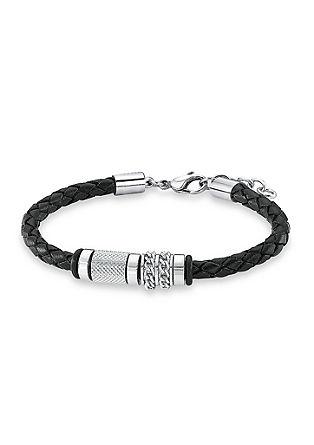 Leren armband met een detail van edelstaal