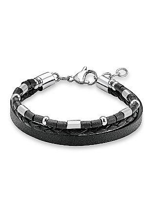 Leren armband met meerdere strengen