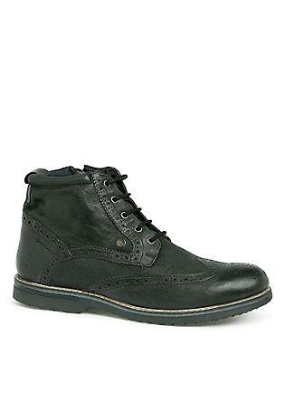 Leren boots in vintagelook
