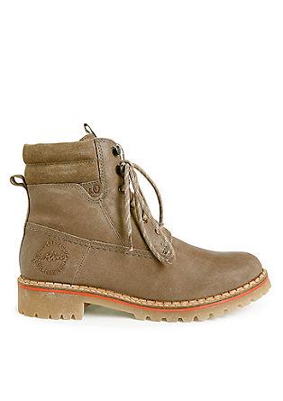 Leren boots met een hiker look