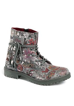 Leren boots met metallic details
