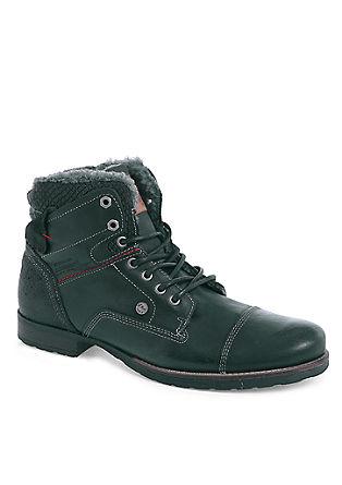 Leren boots met teddy