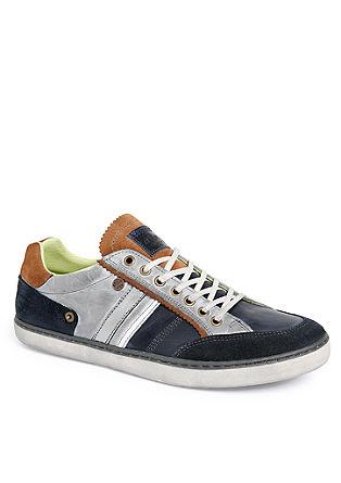 Leren sneakers met een vintage look