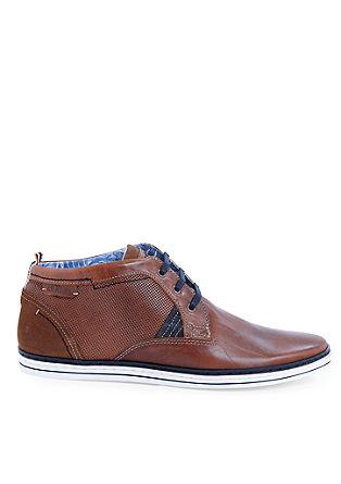 Leren veterschoenen in sneakerlook