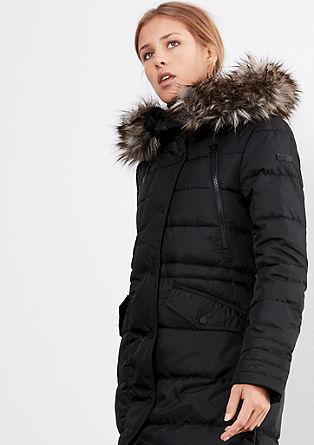 Lesklý zimní kabát z prachového peří
