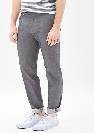 Levio Slim: cropped business pantalon