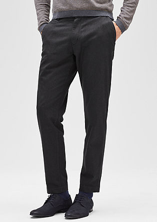 Levio Slim: cropped business pantalon