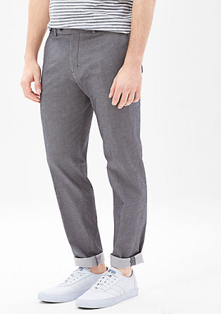 Levio slim: Cropped business trousers from s.Oliver