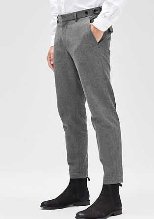Levio slim: Cropped stretch trousers from s.Oliver