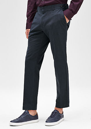 Levio slim: Cropped suit trousers from s.Oliver