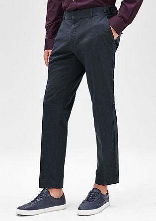 Levio Slim: pantalon met korte pijp