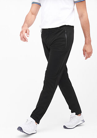 Levio slim: Sporty jersey trousers from s.Oliver