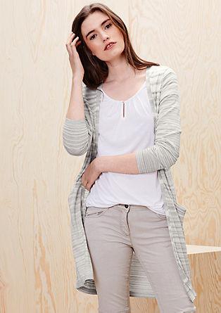 Ležérní pletený kabátek