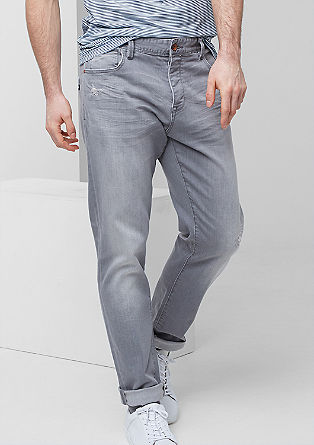 Liam Straight: jeans with distressed details from s.Oliver