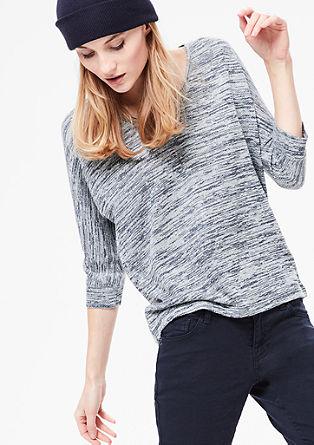 Licht sweatshirt met een gebreide look