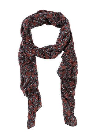 Lichte sjaal met motief all-over