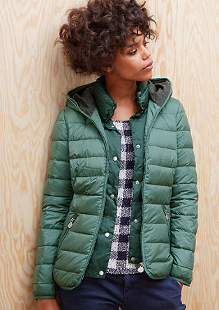Light down jacket with contrasts from s.Oliver