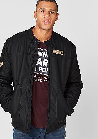 Lightly padded biker jacket from s.Oliver