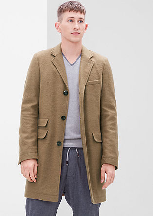 Lightly padded wool blend coat from s.Oliver