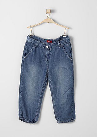 Lightweight, 3/4-length trousers in a denim look from s.Oliver