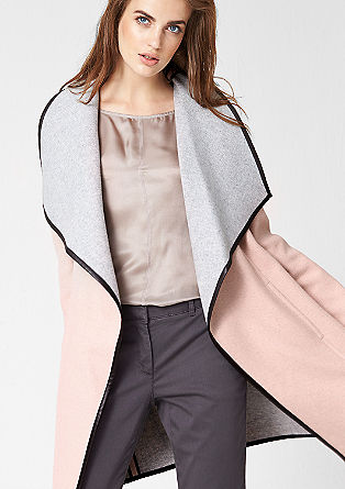 Lightweight, piped wool coat from s.Oliver