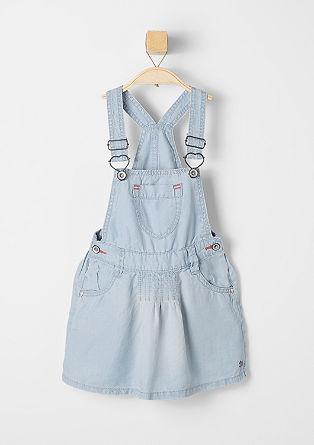 Lightweight bib skirt in a denim look from s.Oliver