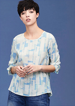 Lightweight blouse with a geometric print from s.Oliver