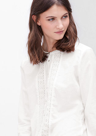 Lightweight blouse with crocheted lace from s.Oliver