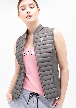 Lightweight body warmer with padding from s.Oliver