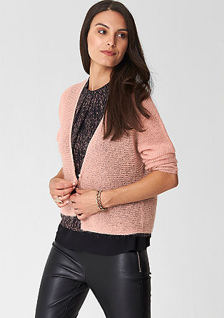 Lightweight cardigan with a percentage of mohair from s.Oliver