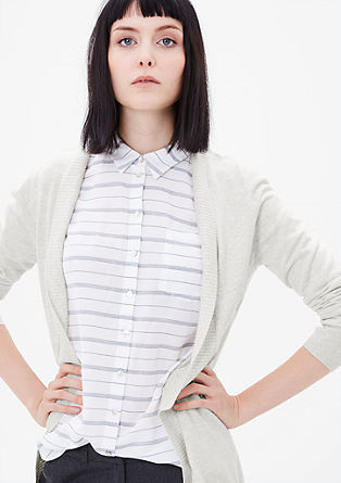 Lightweight cardigan with a ribbed hem from s.Oliver